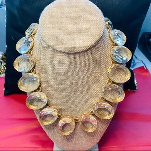 J.crew clear cristal/gold statement necklace